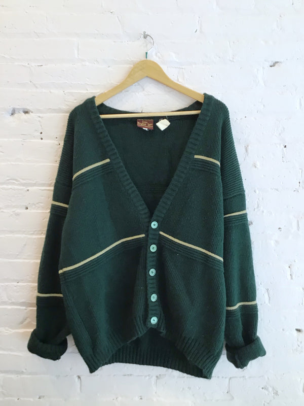 Vintage Heavy Knit Cardigan