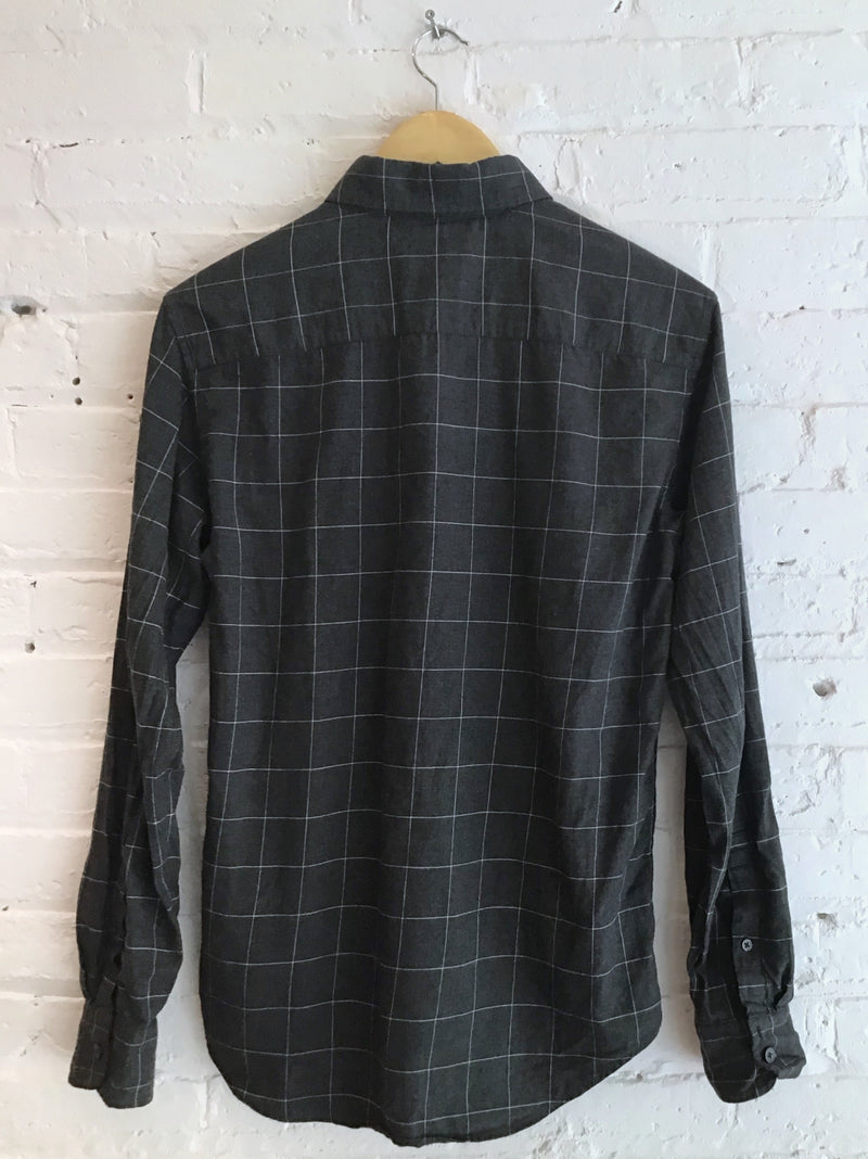 Charcoal grid button down