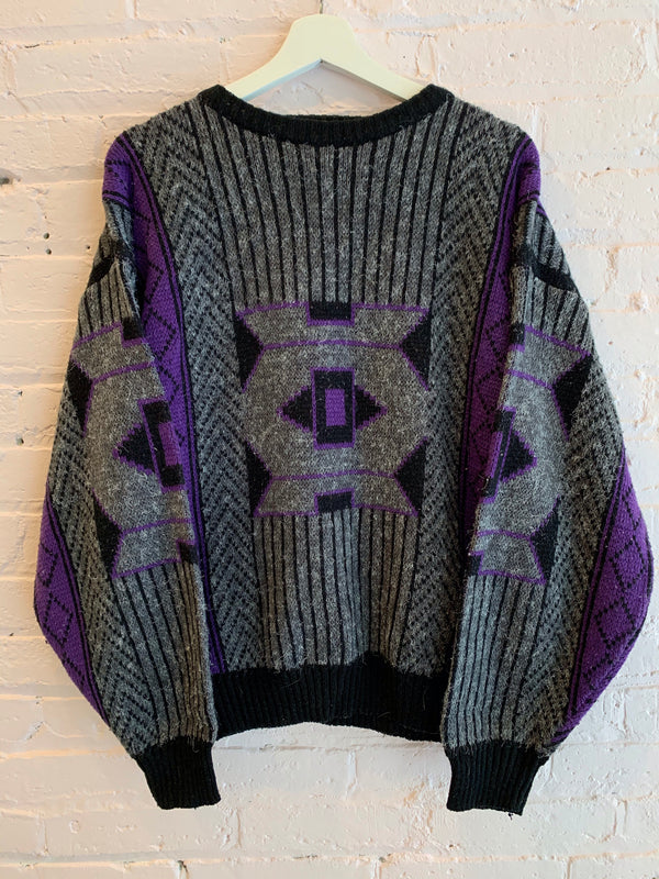 Vintage Geometric Knit Sweater