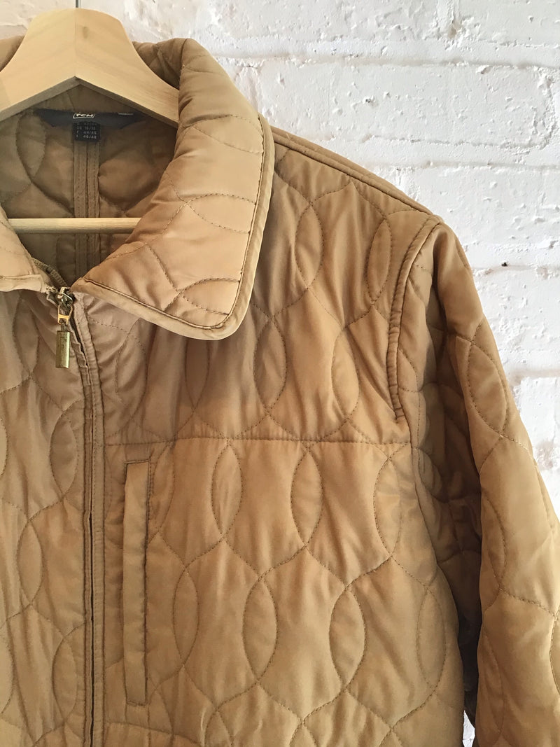 Quilted Zip front Jacket