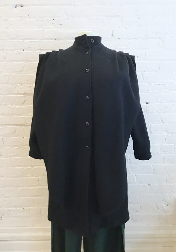 Vintage Draped Wool Coat