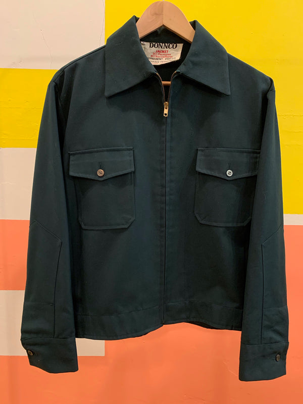 Vintage Twill Zip Up Shirt Jacket