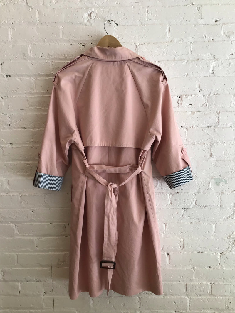 Double-Breasted 3/4 Sleeve Trench Coat