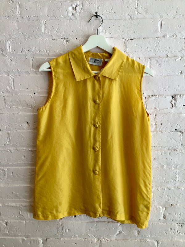 Vintage Silk Sleeveless Top