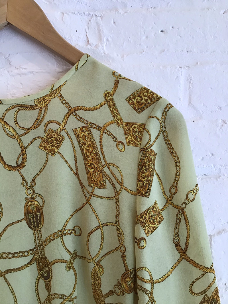 Vintage Button Back Blouse