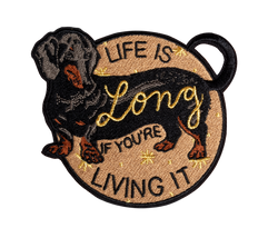 Stay Home Club x City and Colour - Life is Long Embroidered Patch
