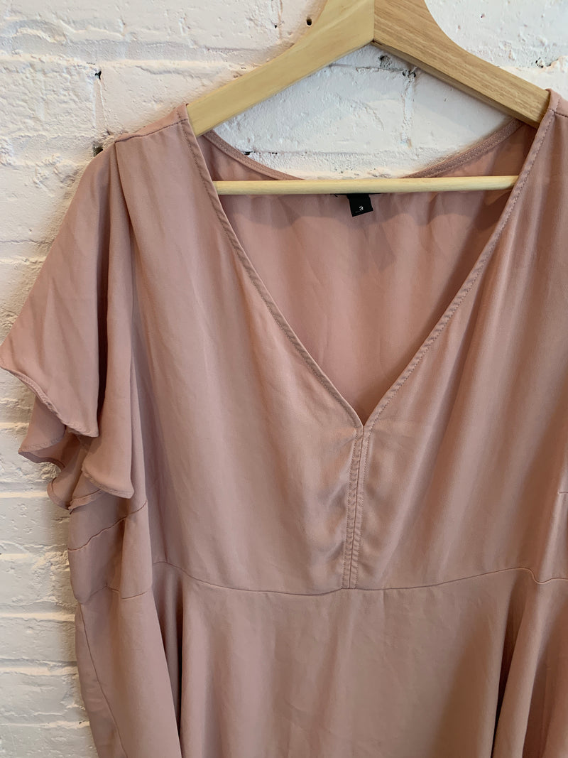 Dusty Rose Flowing Blouse