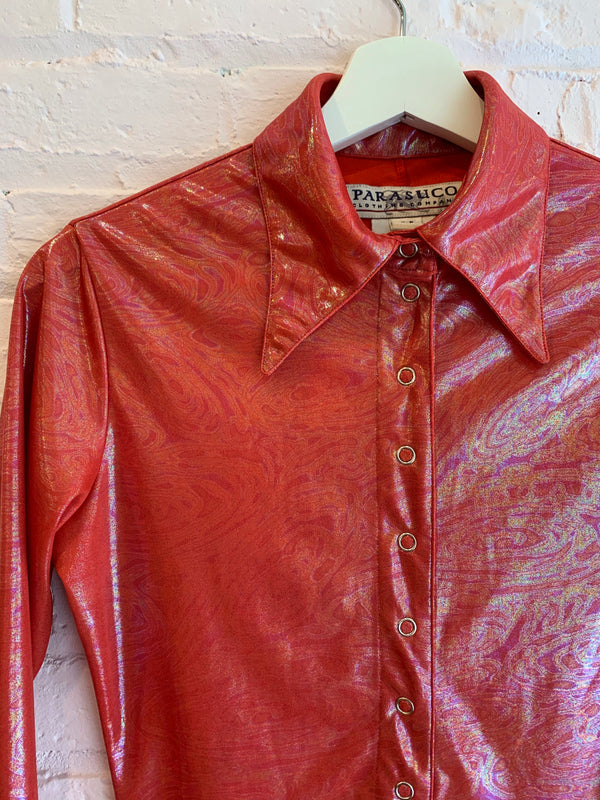 Iridescent Snap Front Shirt