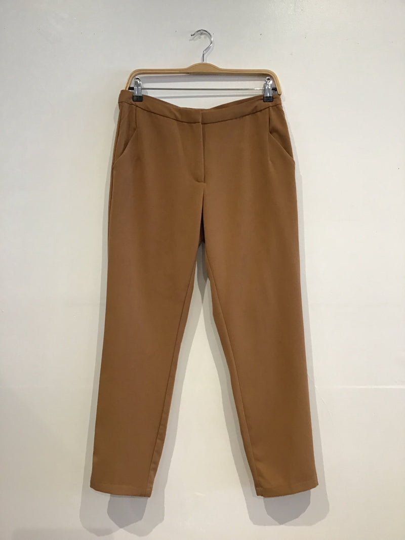 Fly-front slim cropped trousers