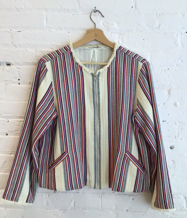 Light cotton stripe jacket