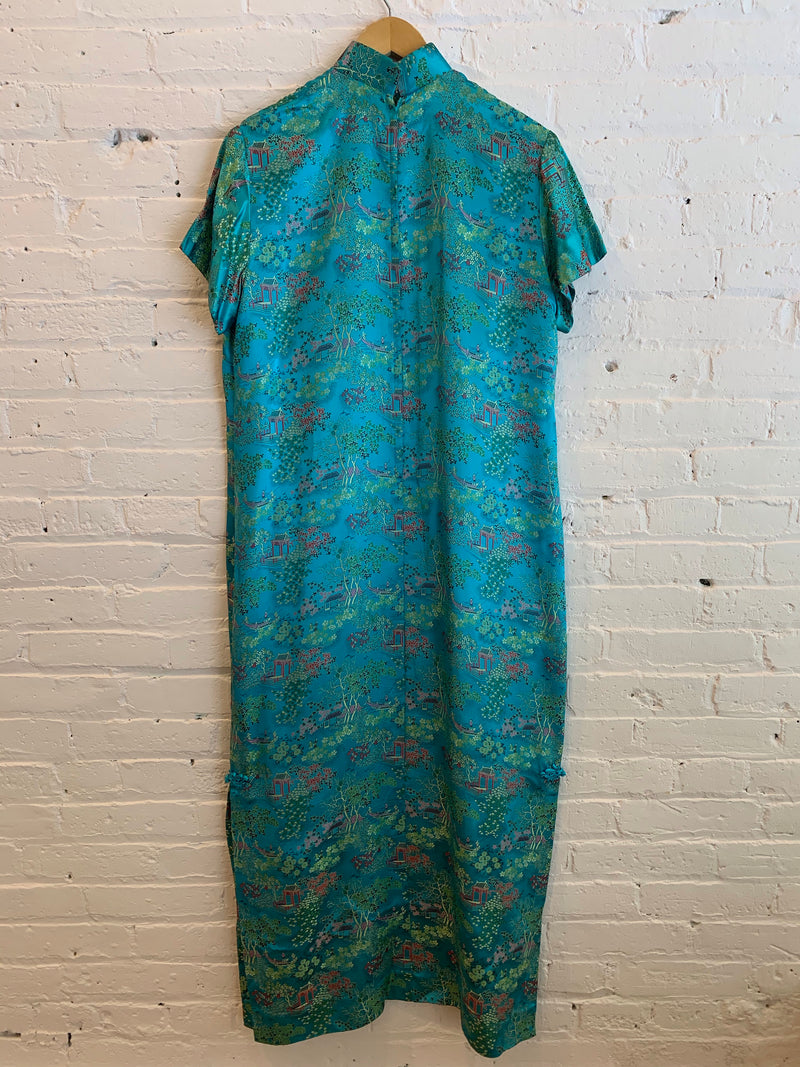 1940s Cheongsam Silk Dress
