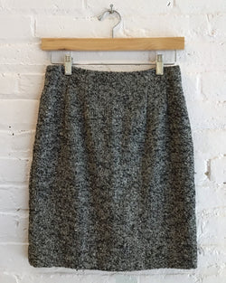 Vintage speckled wool skirt
