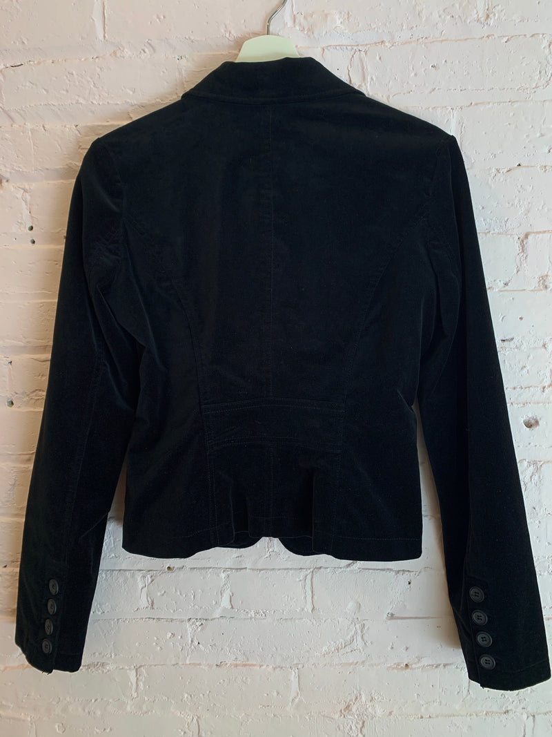 Black Velour Cropped Jacket