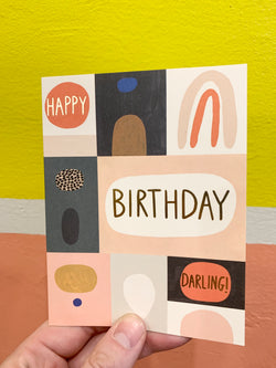 Colour Block Birthday Card