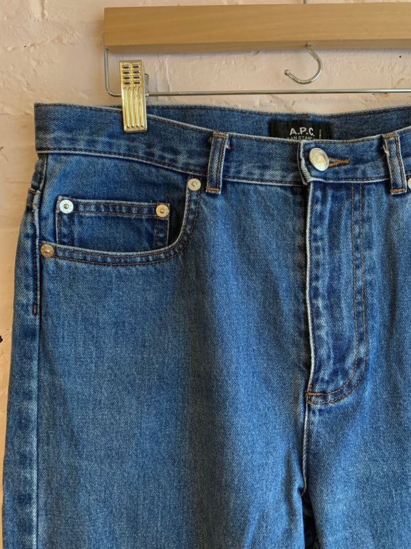 A.P.C. Denim High Rise Jeans - 30W