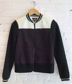 Colourblock bomber jacket