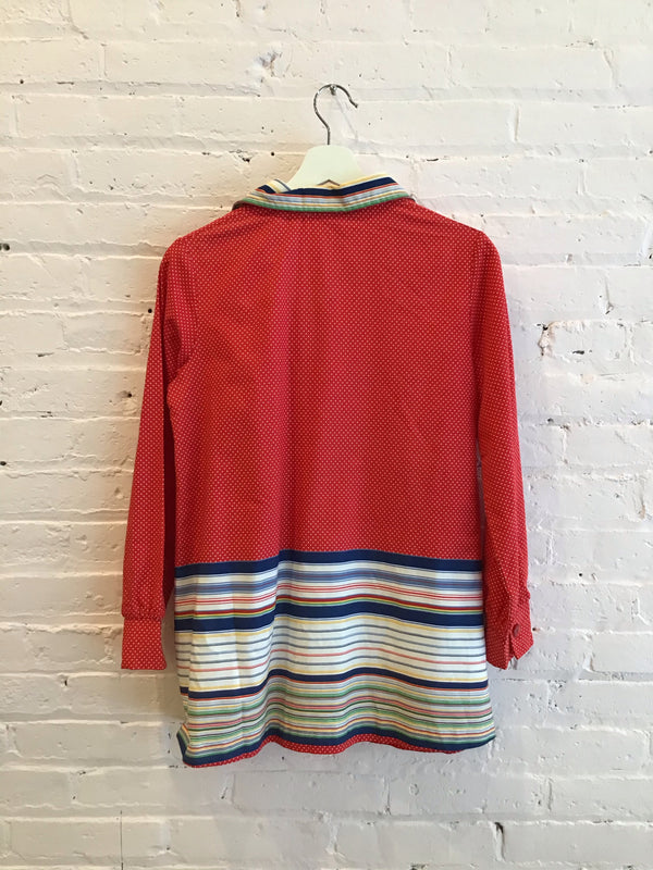 Vintage Long-Sleeve Pop-Over Tunic