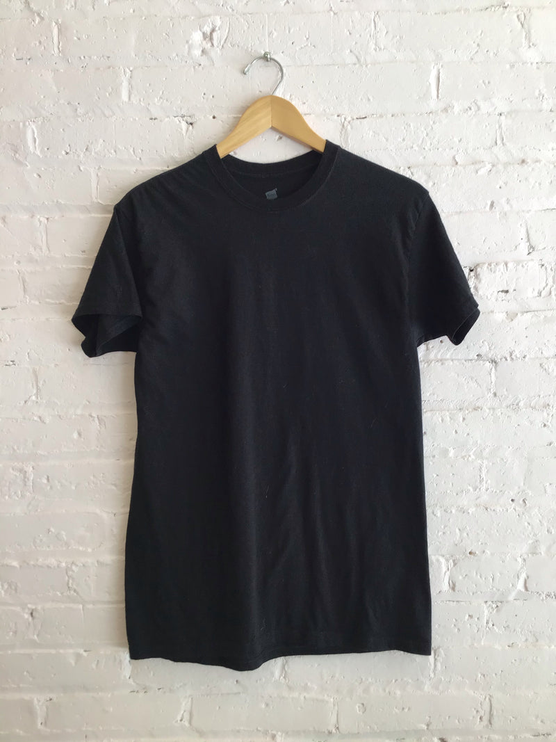 Plain Black Short Sleeve Tee