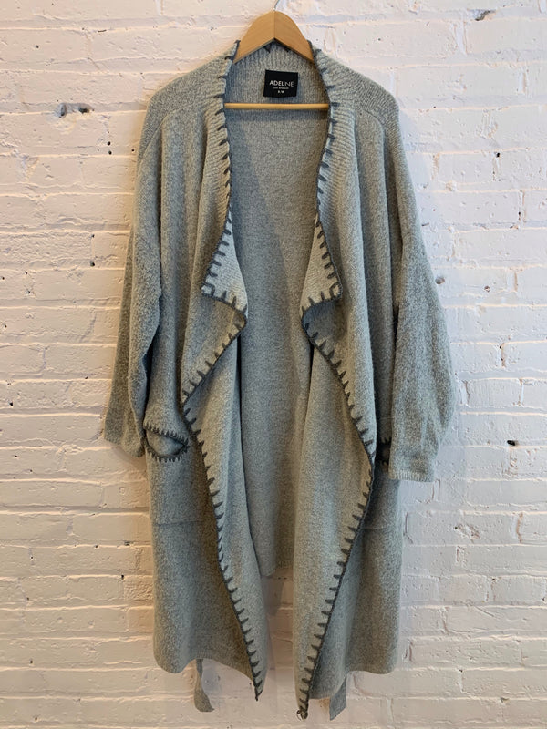 Sweater Duster Jacket with Pockets