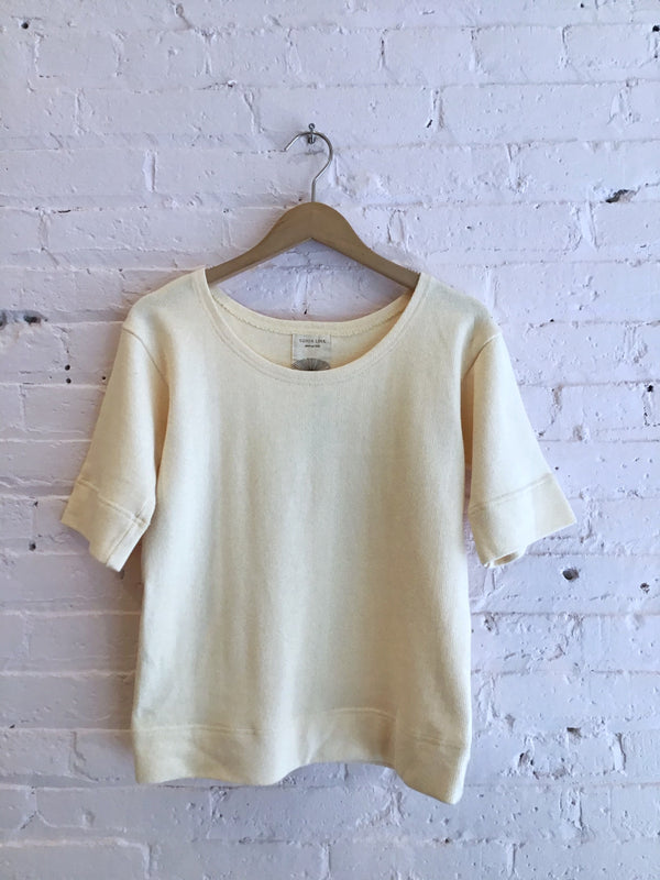 Heavy Weight Knit Short Sleeve Top