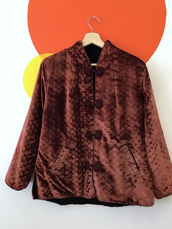 Rust Crushed Velvet Jacket