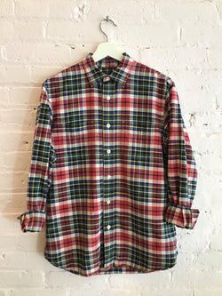 Club Monaco Plaid Button Up Shirt