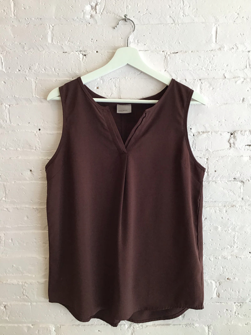 Sleeveless V-Neck Blousy Tank Top