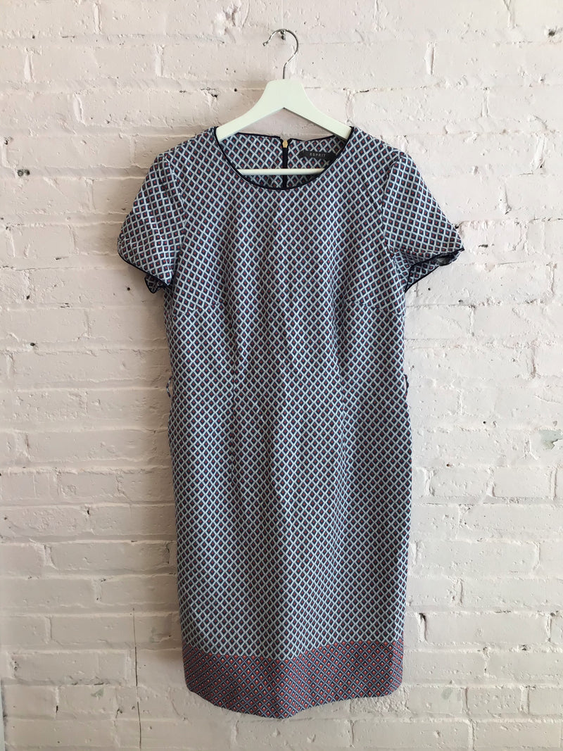 Esprit Printed Short Sleeve Sheathe Dress