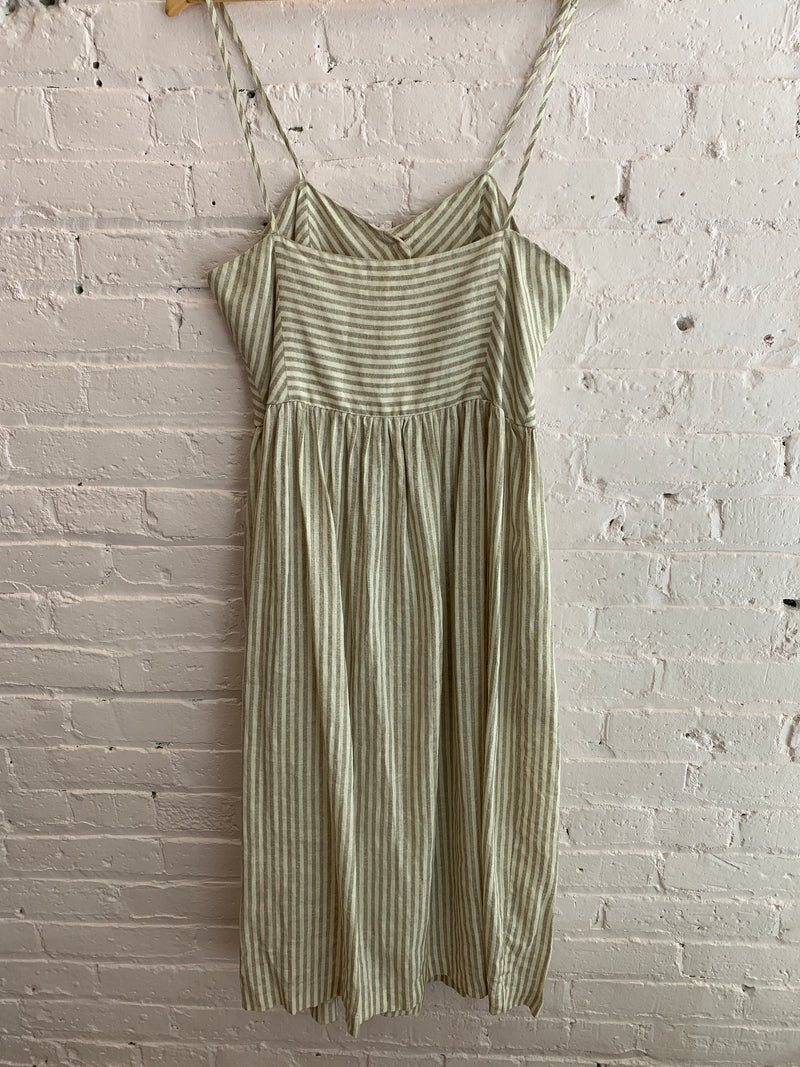 Linen Button Front Sundress