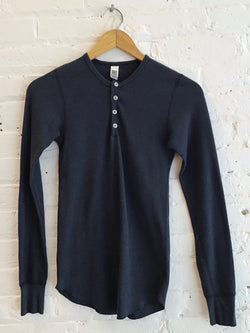 Navy slim fit Henley