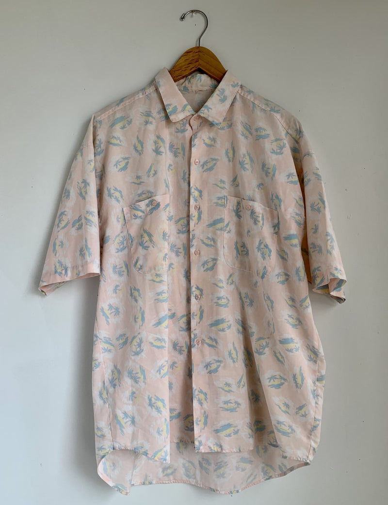 Palm Print Button Up