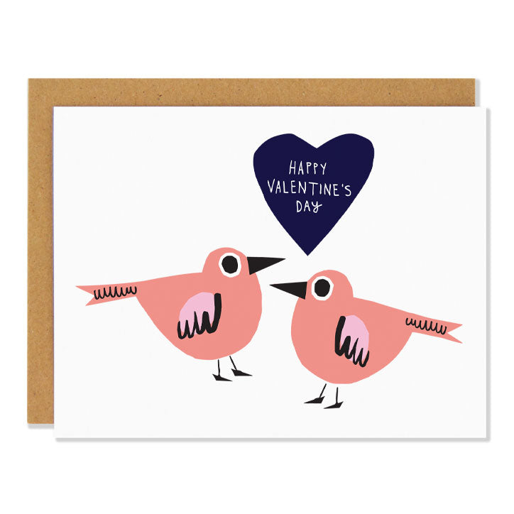 Happy Valentine's Day Birds Card