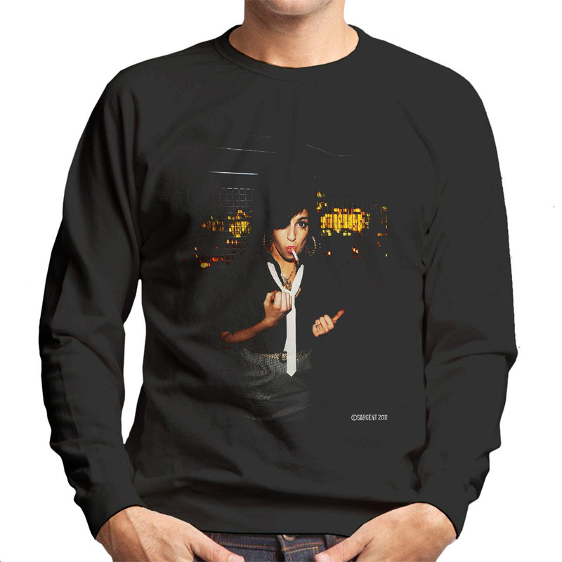 Amy Winehouse Smoking Men's Sweatshirt - Don't Talk To Me About Heroes
