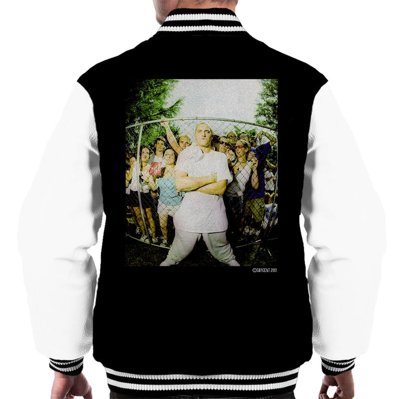 Eminem Crowd Men's Varsity Jacket - Don't Talk To Me About Heroes