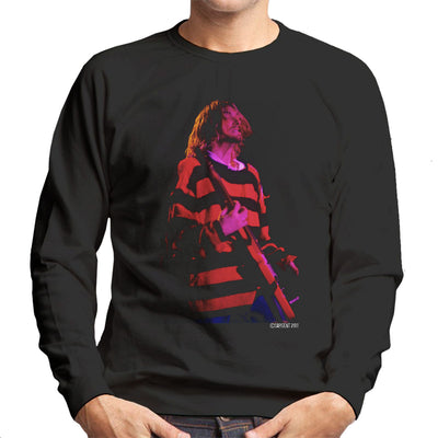 Kurt Cobain Nirvana Guitar Men's Sweatshirt - Don't Talk To Me About Heroes