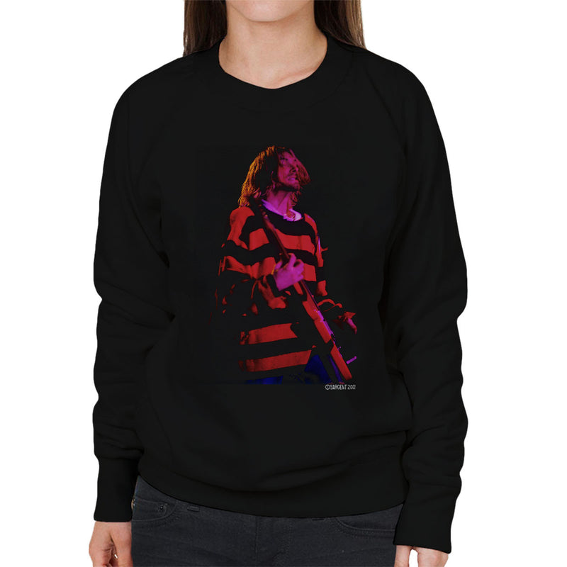 Kurt Cobain Nirvana Guitar Women's Sweatshirt - Don't Talk To Me About Heroes