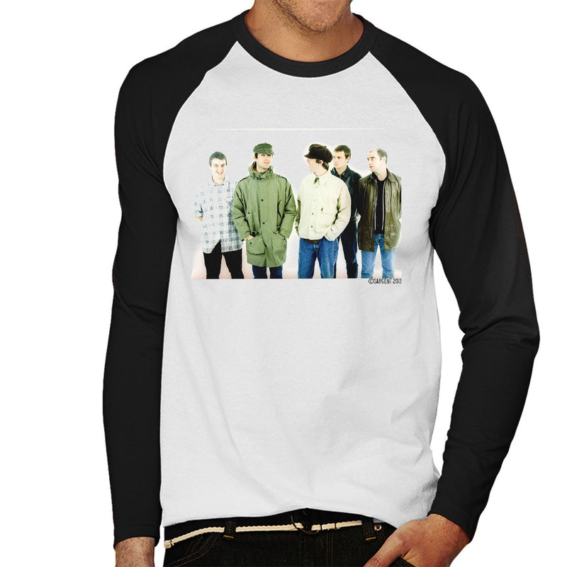 Oasis Band Noel Liam Gallagher Men's Baseball Long Sleeved T-Shirt - Don't Talk To Me About Heroes