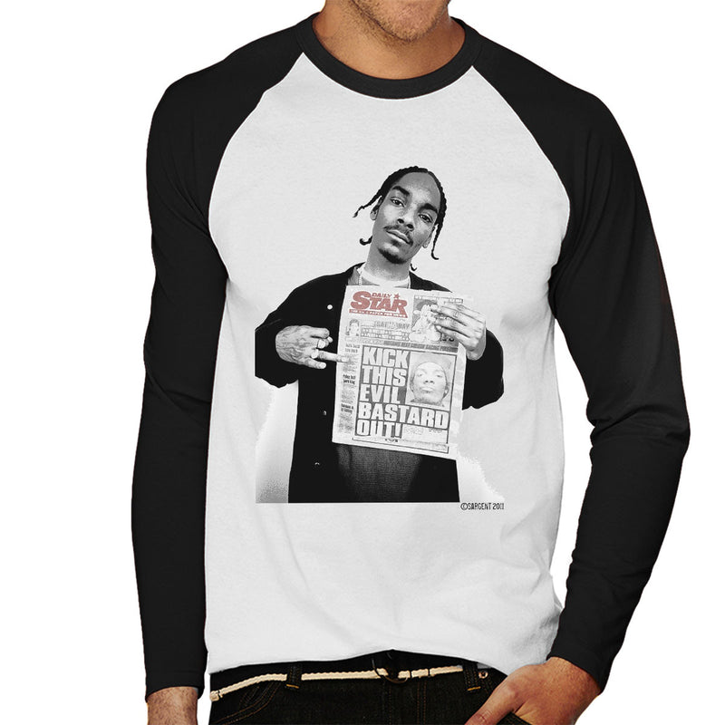 Snoop Dogg Daily Star Newspaper Men's Baseball Long Sleeved T-Shirt