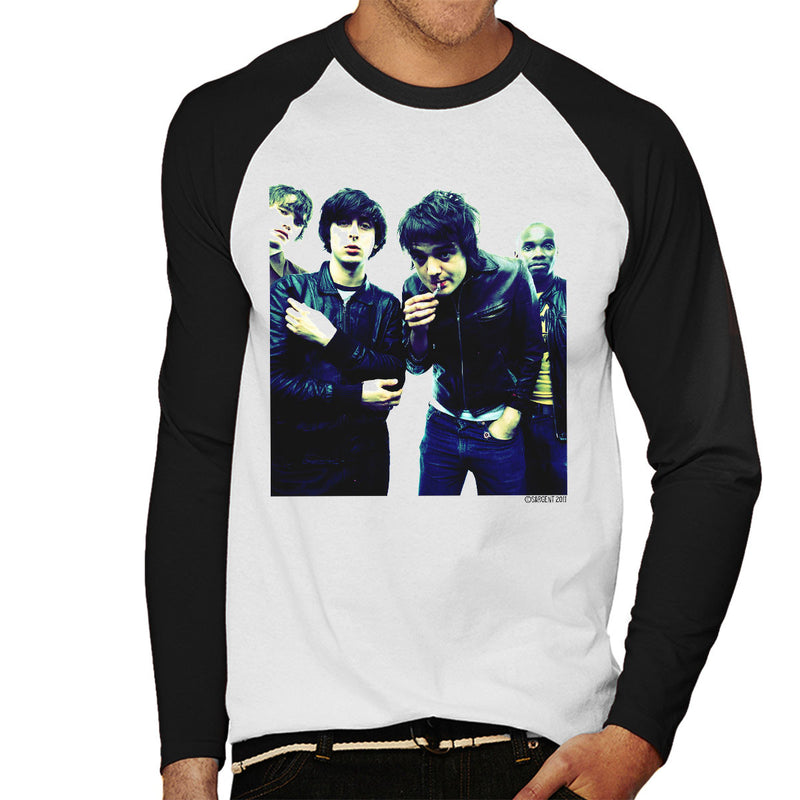 The Libertines Pete Doherty Smoking Men's Baseball Long Sleeved T-Shirt