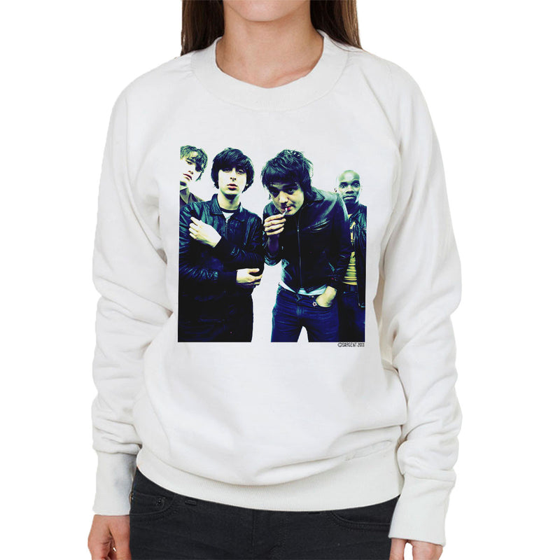 The Libertines Pete Doherty Smoking Women's Sweatshirt - Don't Talk To Me About Heroes