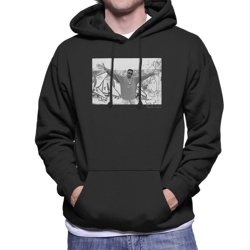 Schoolly D Graffiti Harrow Road 1986 Men's Hooded Sweatshirt - Don't Talk To Me About Heroes