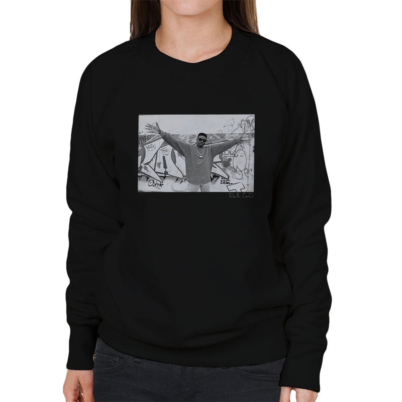 Schoolly D Graffiti Harrow Road 1986 Women's Sweatshirt - Don't Talk To Me About Heroes