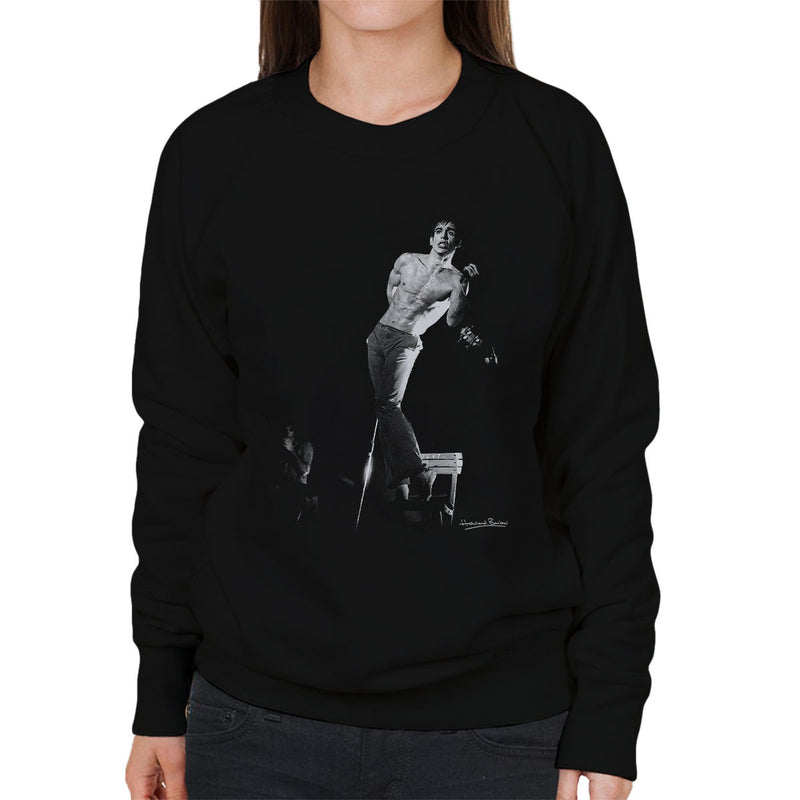 Iggy Pop Manchester Apollo 1977 Women's Sweatshirt - Don't Talk To Me About Heroes