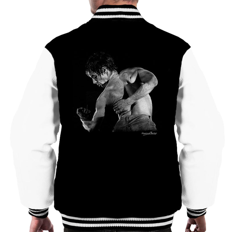Iggy Pop Back Manchester Apollo 1977 Men's Varsity Jacket - Don't Talk To Me About Heroes