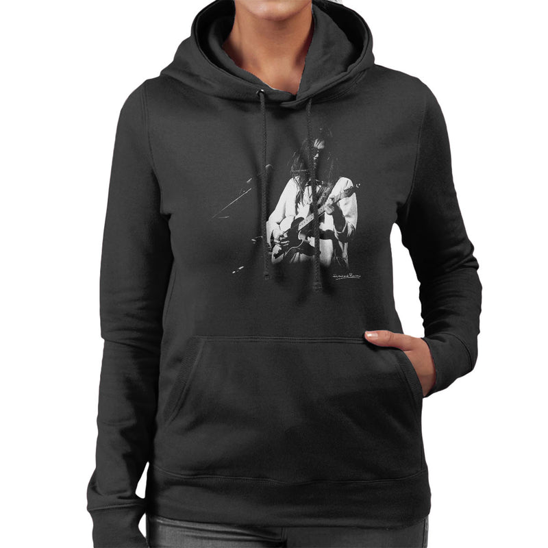 Neil Young Manchester Palace 1973 Women's Hooded Sweatshirt - Don't Talk To Me About Heroes