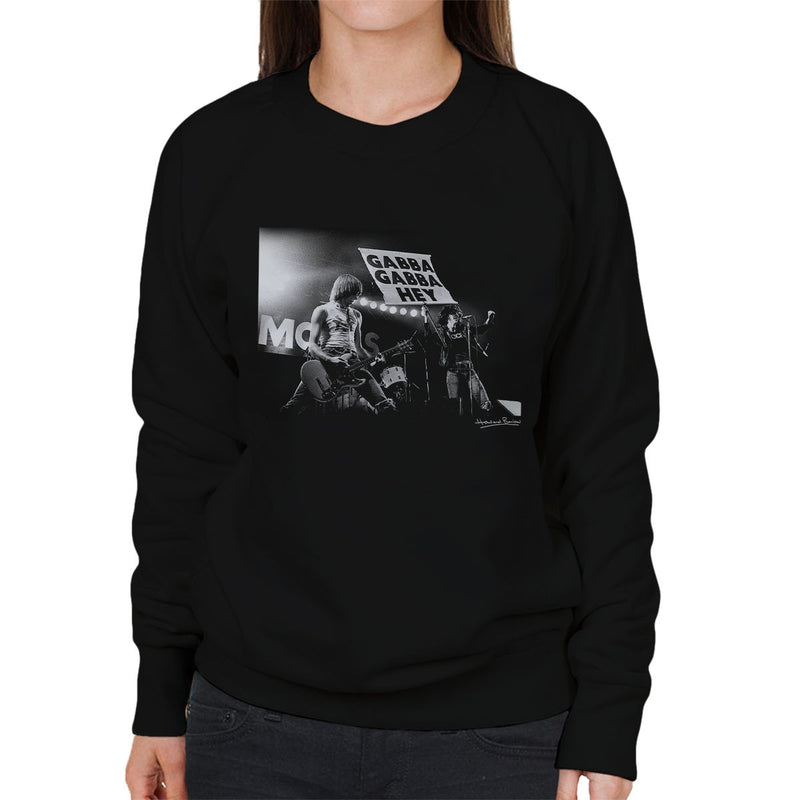 The Ramones Gabba Gabba Hey Manchester Apollo 1977 Women's Sweatshirt