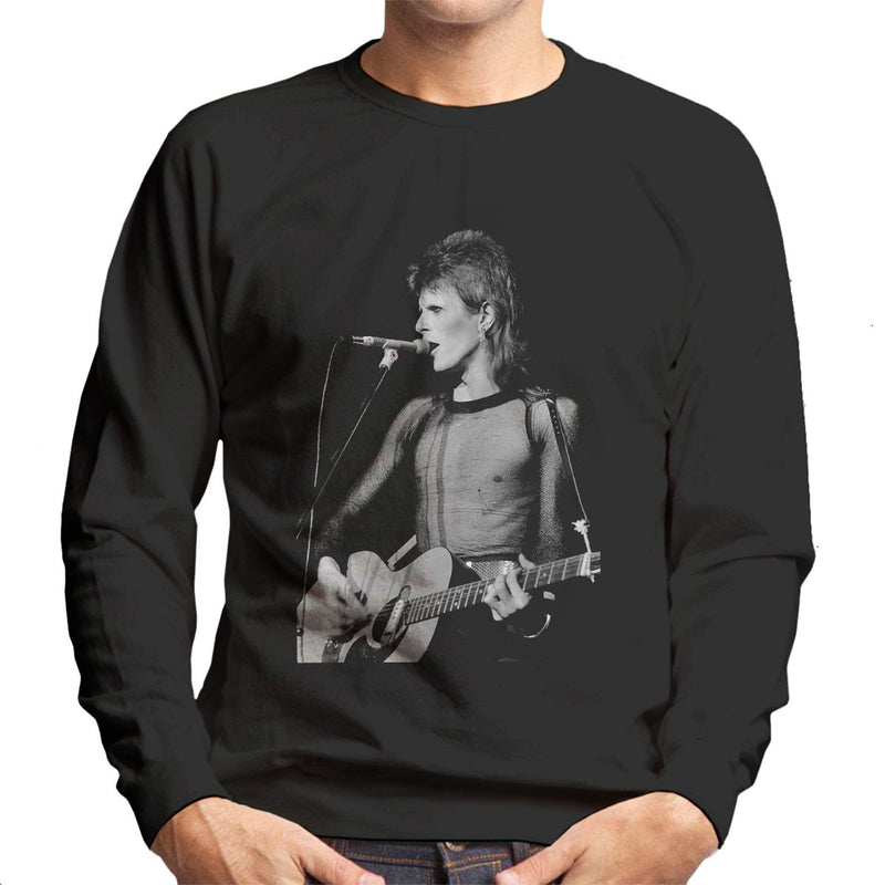 David Bowie Ziggy Stardust Guitar Hammersmith Odeon 1973 Men's Sweatshirt