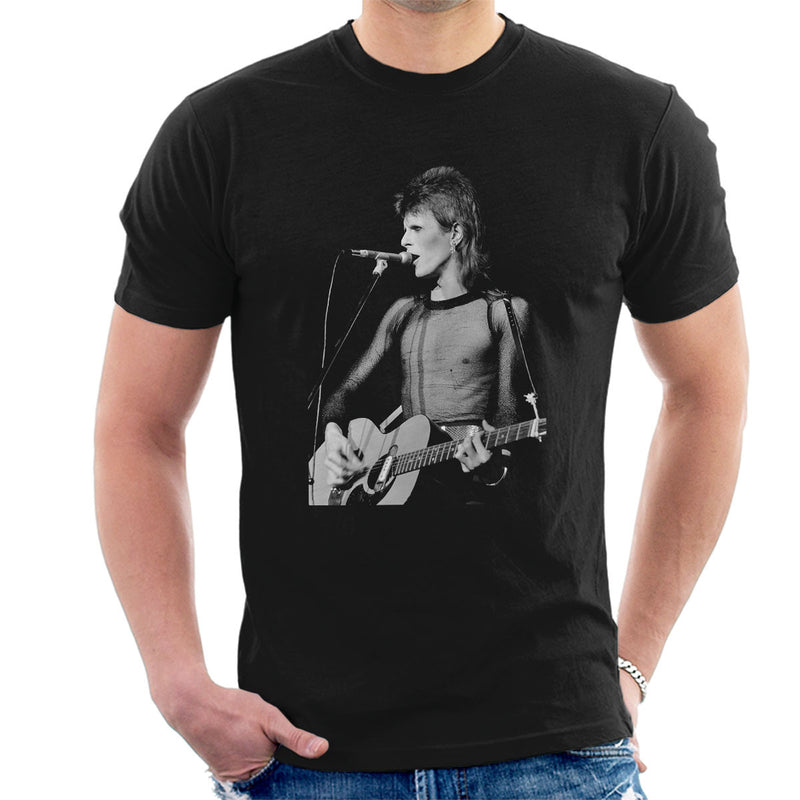 David Bowie Ziggy Stardust Guitar Hammersmith Odeon 1973 Men's T-Shirt - Don't Talk To Me About Heroes