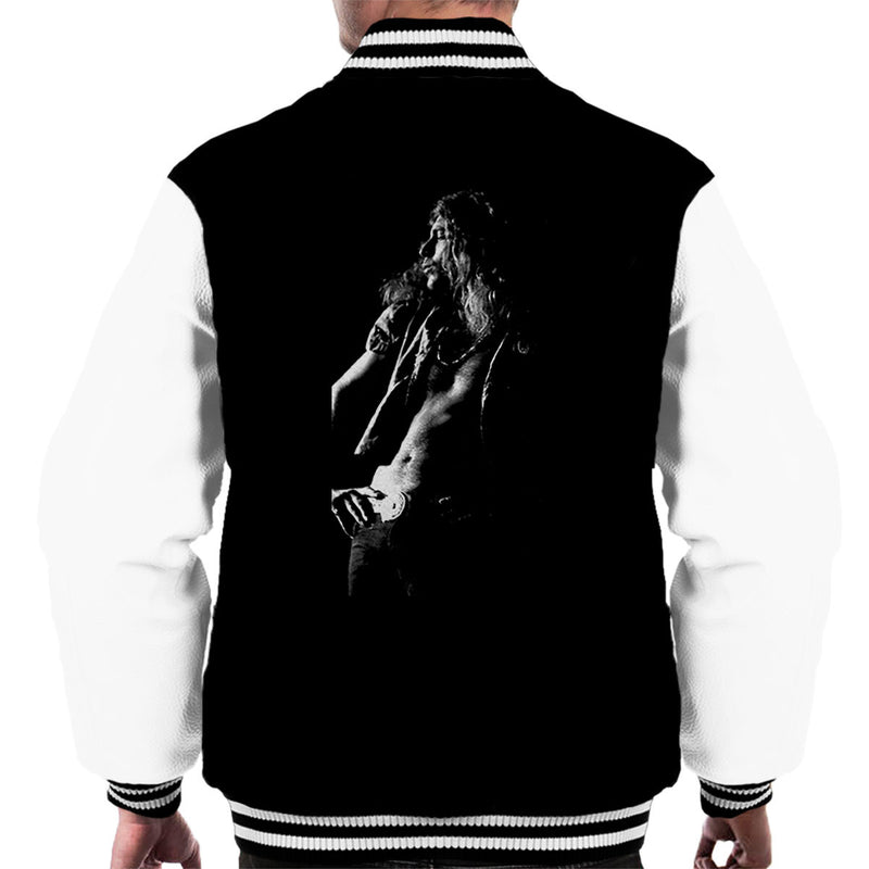 Led Zeppelin Robert Plant Cardiff Capitol Theatre 1972 Men's Varsity Jacket - Don't Talk To Me About Heroes