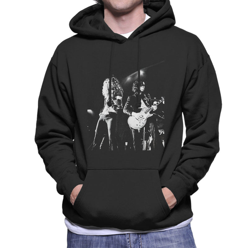 Led Zeppelin Jimmy Page Robert Plant Cardiff Capitol Theatre 1972 Men's Hooded Sweatshirt - Don't Talk To Me About Heroes